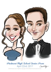 caricatures for prom 1