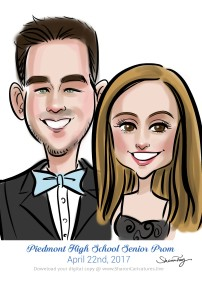 caricatures for prom 11