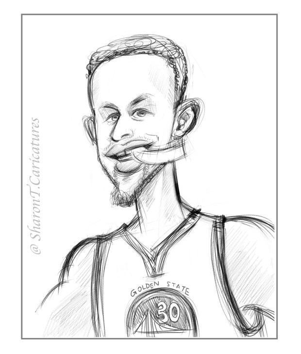 sketch of Stephen Curry