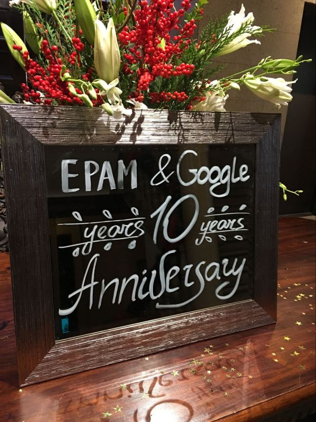 Epam & Google 10 years anniversary